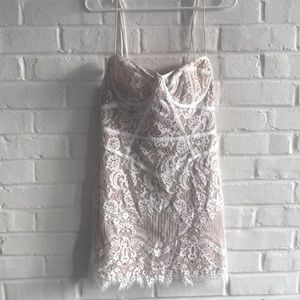 For Love And Lemons Tati Lace Corset Dress White